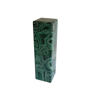 Malachite Style Column/Stand For Sale