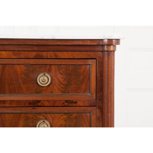 Metal French 19th Century Louis XVI-Style Mahogany Commode For Sale - Image 7 of 11