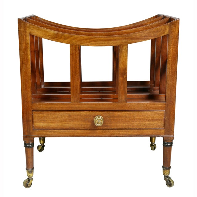 Late 19th Century typical form with a drawer, turned legs and casters. Ex Juan Montoya.