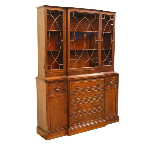 1940's Vintage Duncan Phyfe Secretary China Cabinet For Sale
