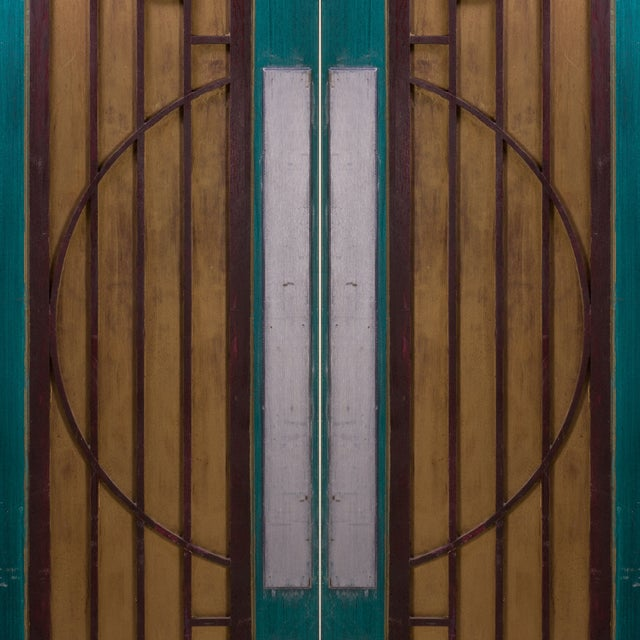 Art Deco Art-Deco Style Doors from Goodspeed Opera House - A Pair For Sale - Image 3 of 4