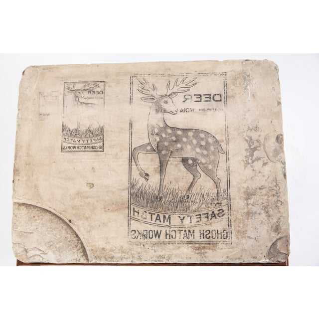 Indian Lithographed Stone Table II - Image 3 of 6