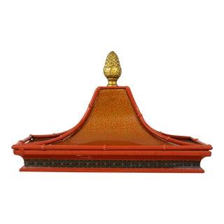 Decorative Orange Metal Pagoda