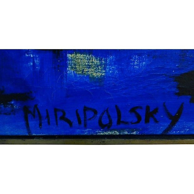 Blue & Yellow by Bert Miripolsky For Sale - Image 4 of 4
