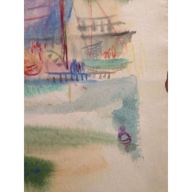 "David Landis Memorial Loop, Chicago Colombia Yacht Club 1950 Watercolor on Paper 25"" x 19"", Unframed Signed lower left in..."
