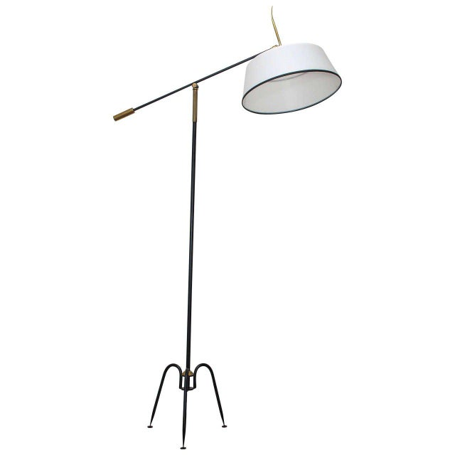 Metal 1950s Articulated French Floor Lamp For Sale - Image 7 of 7
