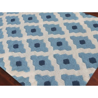 Zara Trellis Light Blue Flat-Weave Rug 8'x10' Preview