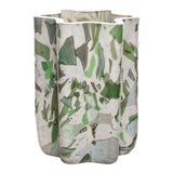 Image of Stories of Italy Nougat Green Bucket Vase For Sale