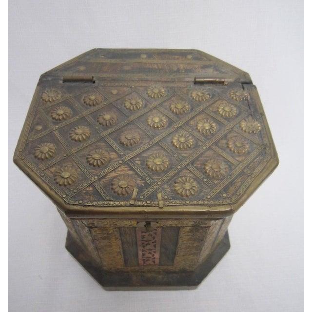 Vintage Boho Indian Wood Box - Image 3 of 7