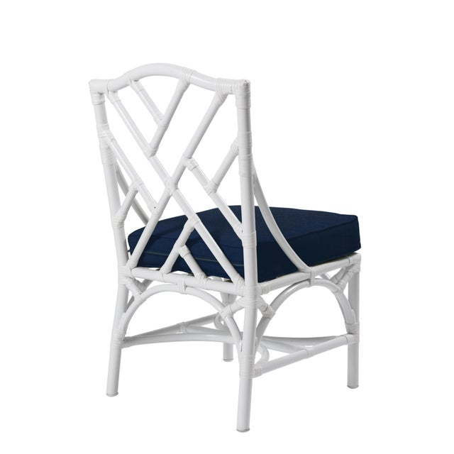Classic silhouettes are transformed into outdoor luxury in the Chippendale Outdoor Side Chair. Featuring high temperature...