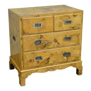 Campaign Style Olive Wood Small Chest of Drawers