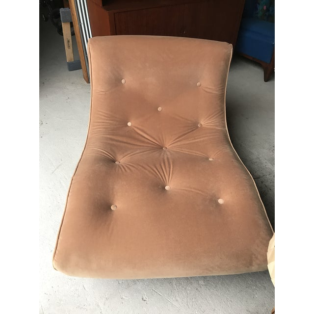 Adrian Pearsall Adrian Pearsall Walnut Rocking Chaise Craft Associates For Sale - Image 4 of 6
