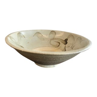 Antique Chinese Stoneware Bowl For Sale