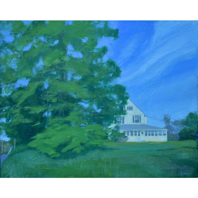 """Stephen Remick """"House Behind the Tree by the Road"""" Contemporary Painting For Sale - Image 10 of 10"""