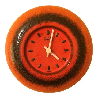 Kienzle Boutique Pottery Modern Clock, 1970s