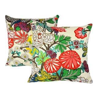 "Custom Schumacher ""Chiang Mai Dragon"" Pillows - A Pair For Sale"