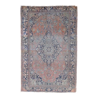 "Antique Persian Mohtasham Kashan Rug - 4'5"" x 6'9"" For Sale"