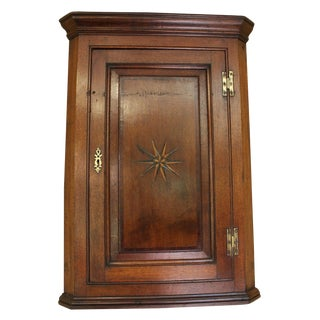 18th Century Country Mahogany Hanging Corner Cabinet