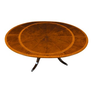 Traditional Round to Oval Perimeter Mahogany Dining Table For Sale