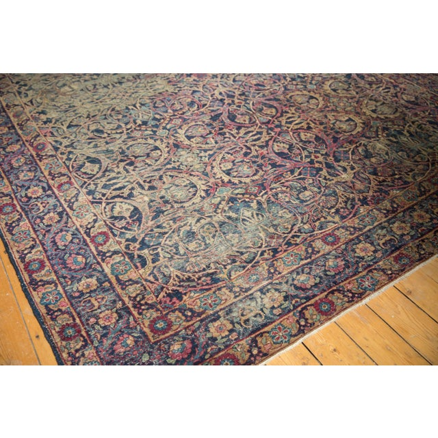"Vintage Yezd Carpet - 9'2"" X 11'9"" For Sale - Image 12 of 13"