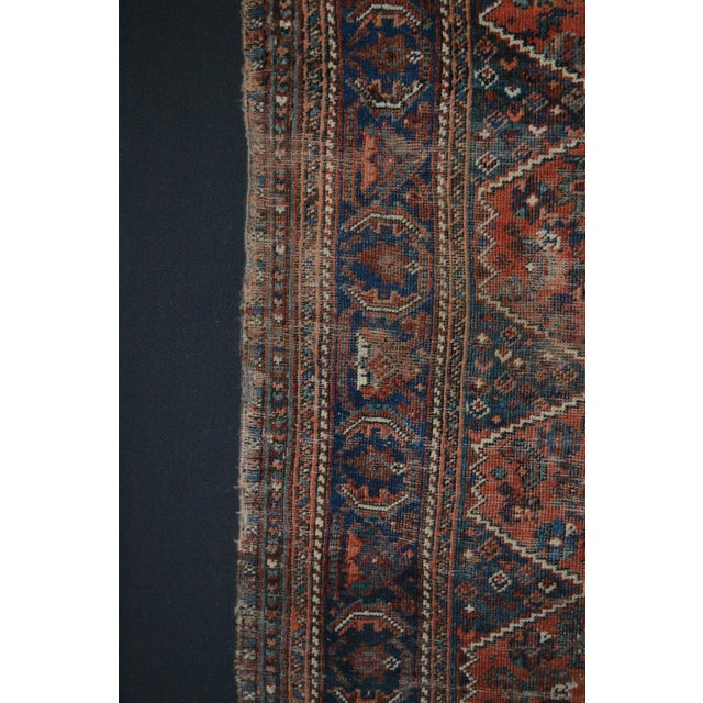 """Distressed Antique Persian Tribal Rug - 3'7"""" X 4'9"""" - Image 6 of 9"""