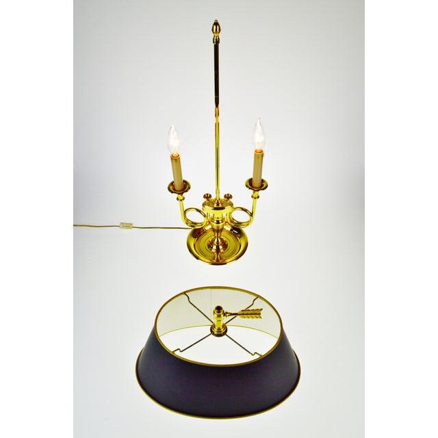 Vintage 1960's Baldwin Brass French Horn Bouillotte Table Lamp For Sale In Philadelphia - Image 6 of 11