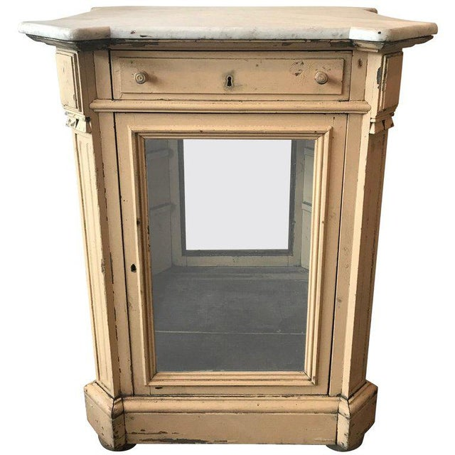 19th Century French Marble Topped Glass Cabinet For Sale - Image 12 of 12