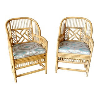 Modern Brighton Pavilion Bamboo Chairs - a Pair For Sale