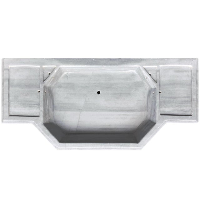 White Antique Art Deco Turkish Marble Sink For Sale - Image 8 of 9
