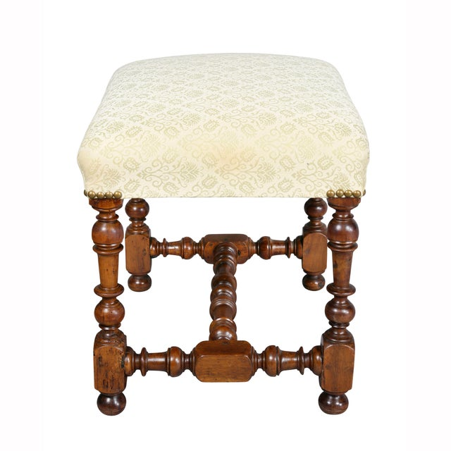 Flemish Baroque Walnut Bench For Sale In Boston - Image 6 of 8