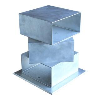 Postmodern Sculptural Aluminum Pedestal, Circa 1985 For Sale