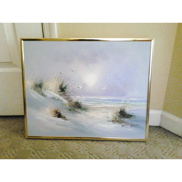 """""""Ocean"""" by John Leman, Oil Painting - Image 7 of 7"""
