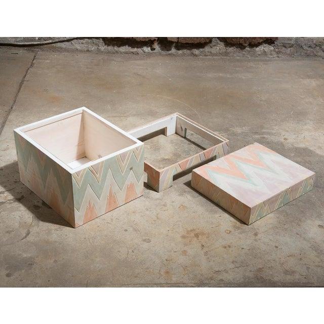 Pastel Geometric Wooden Storage Box - Image 6 of 6