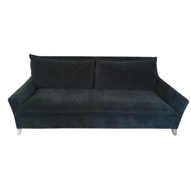 west elm bliss sleeper sofa in velvet chairish. Black Bedroom Furniture Sets. Home Design Ideas