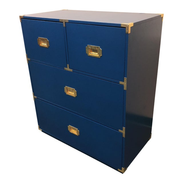 Blue Campaign Style Chest of Drawers - Image 1 of 7