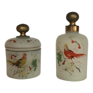 Mid 19th Century Antique Decorative Bottles - a Pair For Sale