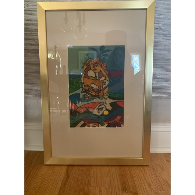"""1970s Modern """"Mother and Child"""" Art by Canto For Sale - Image 4 of 6"""
