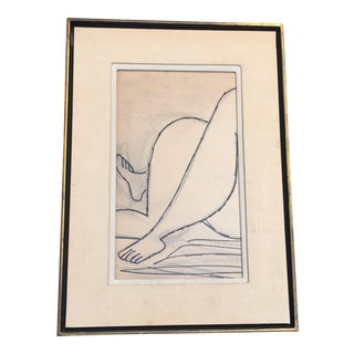 "Vintage ""Legs"" Original Painting on Paper"
