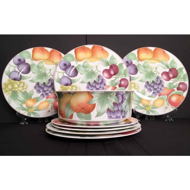 Purple Villeroy & Boch, Gallo Design, Frutteto, Chop/Charger Plates - Set of 5 For Sale - Image 8 of 13