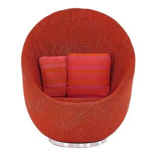 Early Milo Baughman Egg Chair 1960 For Sale