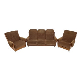 Mid Century Retro Saddleback Sofa and Lounge Chairs by G Plan For Sale
