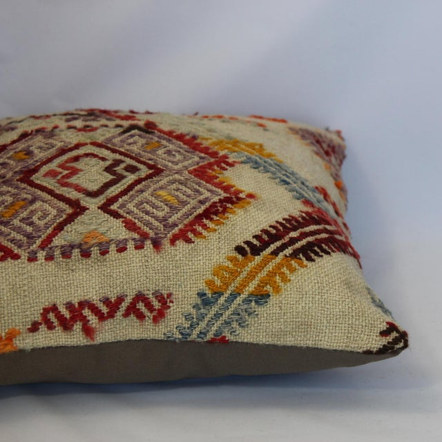 Turkish Handmade Kilim Pillow Cover - Image 9 of 11