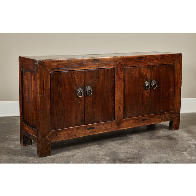 Asian 19th C. Chinese Four Door Sideboard For Sale - Image 3 of 5