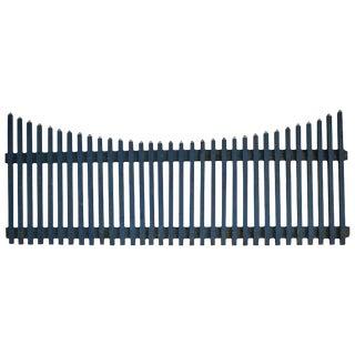 Farm Picket Fence in Original Blue Paint