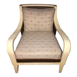 Vintage Palecek Occasional Chair With Nailhead Trim