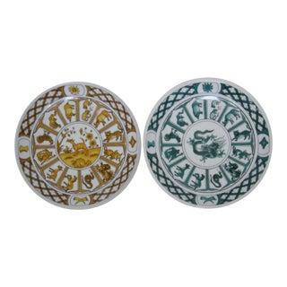 Chinese Zodiac Wall Plates - A Pair