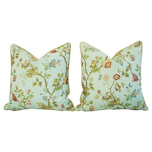 Italian Scalamandre Fleur Des Indes Pillows - Pair - Image 5 of 11