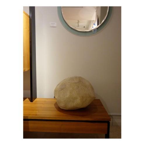 Brutalist Singleton Lit Modernist Rock For Sale - Image 3 of 4
