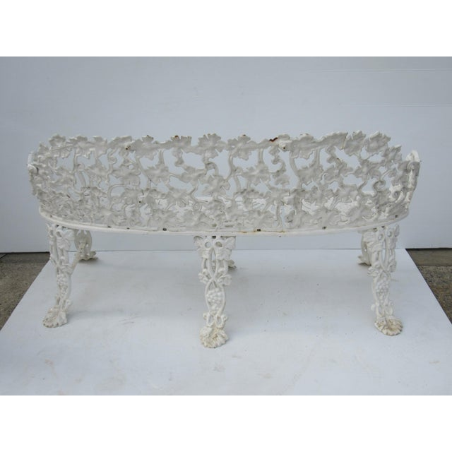 Victorian Cast Iron Footed Garden Bench - Image 4 of 7