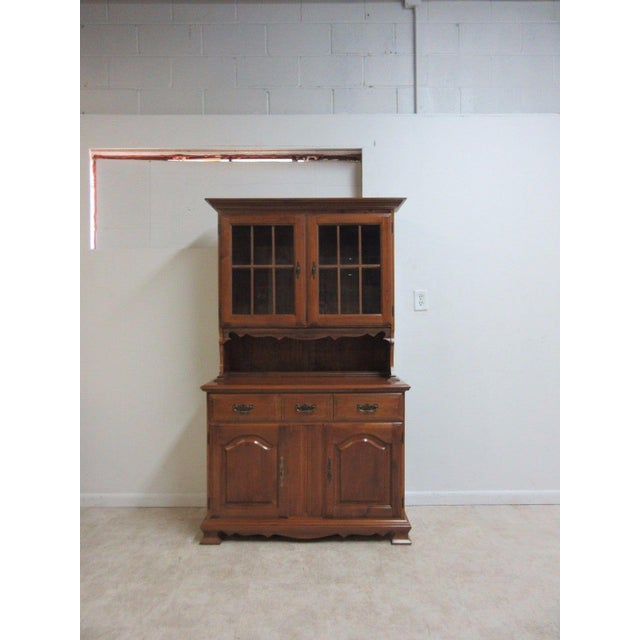 Vintage Maple Chippendale Carved China Cabinet For Sale - Image 11 of 11